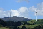 Whariti Peak & Te Apiti Wind farm. View from the Wetlands Cafe