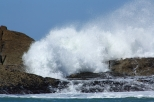 Waves crashing over the reef at Castle Point 2014